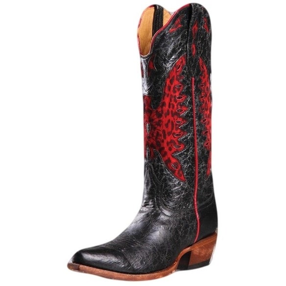 Johnny Ringo Western Boots Womens Cowboy Inlayed Barn Black