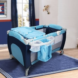Costway Foldable Baby Crib Playpen Travel Infant Bassinet Bed Mosquito Net Music w Bag|https://ak1.ostkcdn.com/images/products/is/images/direct/92e61d258a1395a34e9d574b12acba9ad1968ef9/Costway-Foldable-Baby-Crib-Playpen-Travel-Infant-Bassinet-Bed-Mosquito-Net-Music-w-Bag.jpg?impolicy=medium