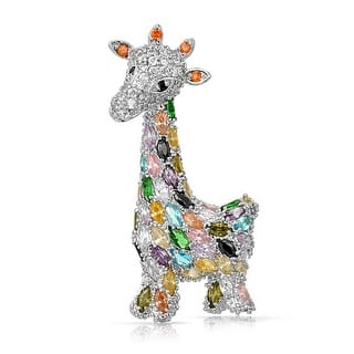 Bling Jewelry Multi Color CZ Giraffe Brooch Animal Pin Rhodium Plated|https://ak1.ostkcdn.com/images/products/is/images/direct/92e61fd104662efd7fc3440da6c02606a2be498d/Bling-Jewelry-Multi-Color-CZ-Giraffe-Brooch-Animal-Pin-Rhodium-Plated.jpg?impolicy=medium
