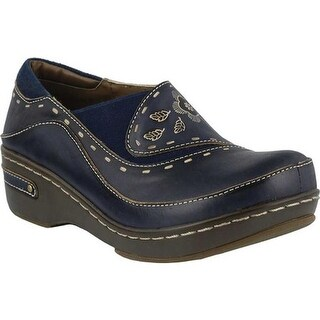 L'Artiste by Spring Step Women's Burbank Navy Leather