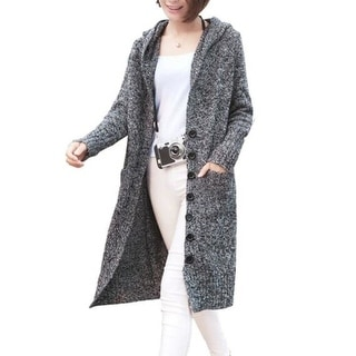 Link to Women's Sweater Oversized Open Front Hooded Draped Pockets Cardigan Coat - One Size Similar Items in Women's Sweaters