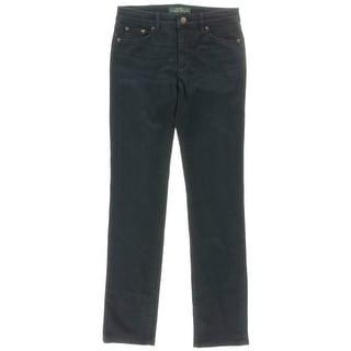LRL Lauren Jeans Co. Womens Heritage Slimming Fit Denim Straight Leg Jeans