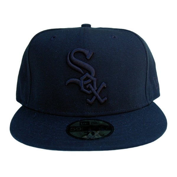 Shop MLB Chicago White Sox New Era 59Fifty Black Fitted Hat - Free Shipping  On Orders Over  45 - Overstock - 20669364 fd4429a25fc