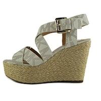 MICHAEL Michael Kors Womens Celia Open Toe Casual Espadrille Sandals