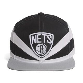 Brooklyn Nets SLASH SNAPBACK Mitchell & Ness Vintage NBA Hat = OSFM