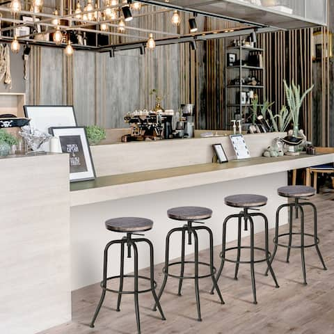 Carbon Loft Sofia Swivel Bar or Counter Height Stool (Set of 2)