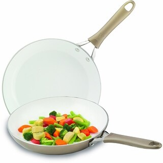 "Wearever C944S264 Pure Living Fry Pan, Combo Pack, 8"" Dia & 10"" Dia"