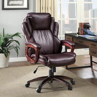 Link to Ovios Faux Leather High Back Executive Office Chair Similar Items in Office & Conference Room Chairs