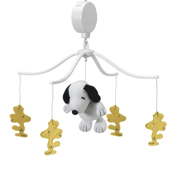 Bedtime Originals Forever Snoopy & Woodstock Musical Baby Crib Mobile