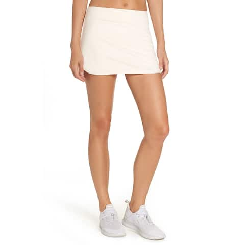 Nike Women's Dri-Fit Solid Color Athletic Tennis Golf Skort, Icewhite, Large