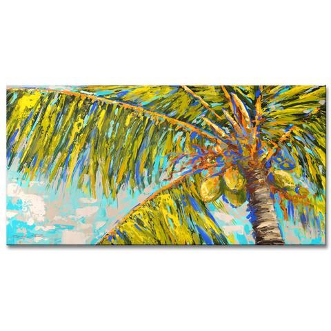 Porch & Den Natural Heat' Palm Tree Canvas Wall Decor