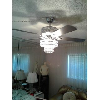 Empire Trois 5-Blade Silver Chandelier Ceiling Fan 52-Inch with Remote Control