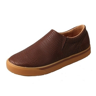 Twisted X Casual Shoes Mens Slip On Loafer Round Rubber Brown MCA0030