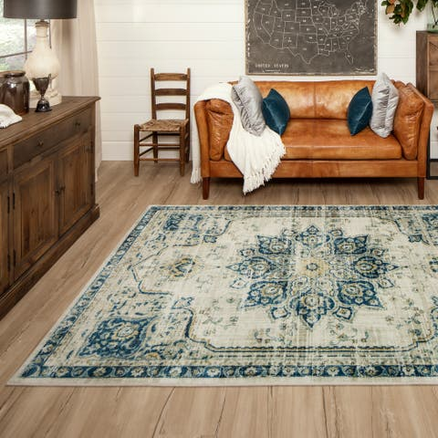 Mohawk Home Empearal Navy Area Rug