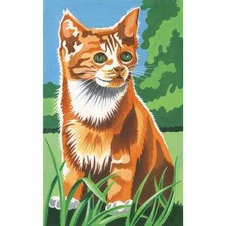 "Mini Paint By Number Kit 4.5""X7""-Kitten In The Field"