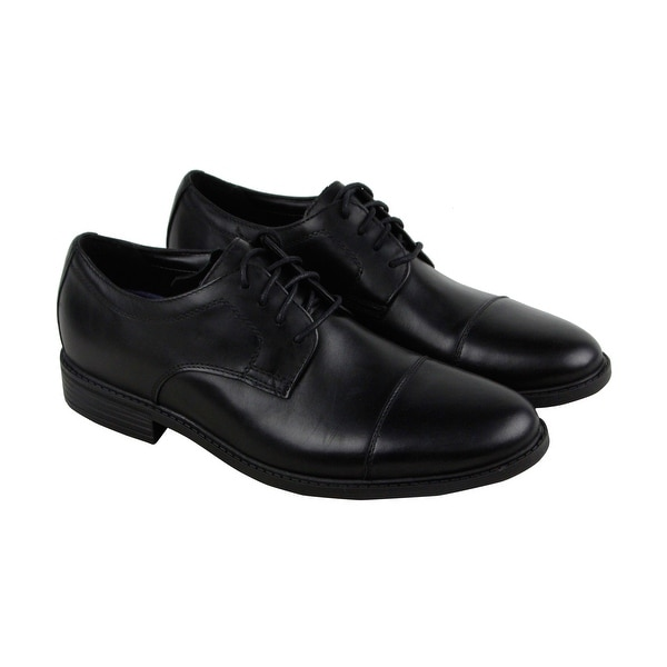 Bostonian Delk Pace Mens Black Leather Casual Dress Lace Up Oxfords Shoes