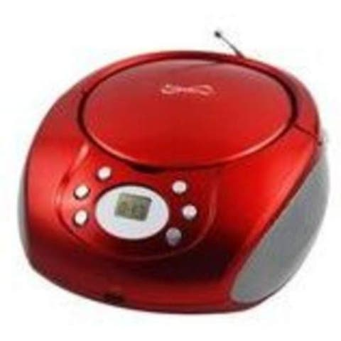 Portable CD AM FM Player Red