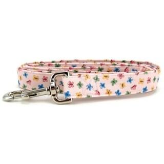 Pastel Pink Butterflies Dog Leash