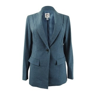 Link to Anne Klein Women's Peak Lapel Long Jacket - Juniper Similar Items in Suits & Suit Separates