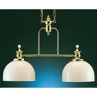 Volume Lighting V4912 Aberdeen 2 Light Down Light Chandelier - Polished brass