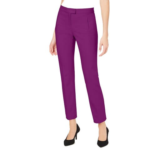 Alfani Women's Dress Pants Purple Size 6X31 Slim Tummy Control Trouser