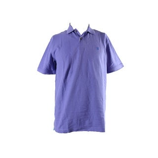 Izod Purple Short-Sleeve Pique Polo Shirt M