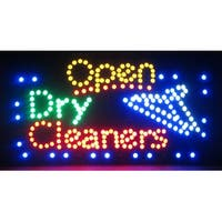 2xhome Dry Cleaners Multi-Color LED Restaurant, Business, And Store Sign with Animation Effects & Motion Flashing Capabilities