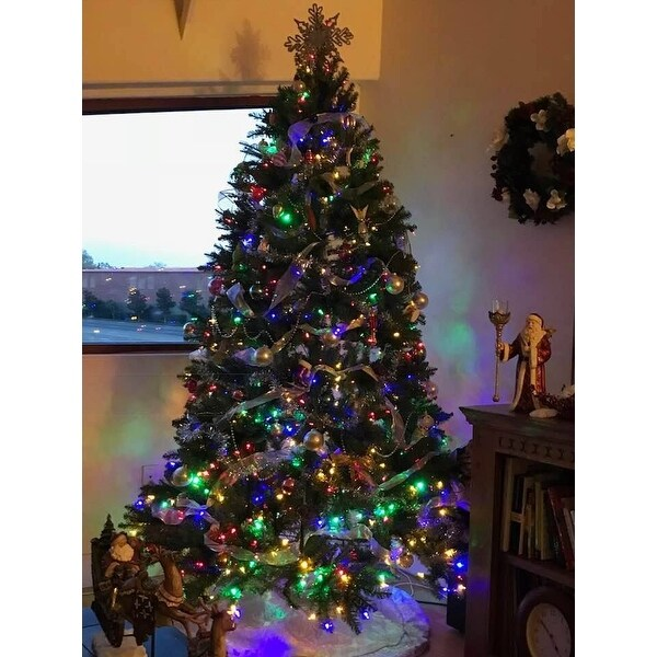 shop 75 foot dunhill fir hinged tree with 700 low voltage dual led lights free shipping today overstockcom 9578522