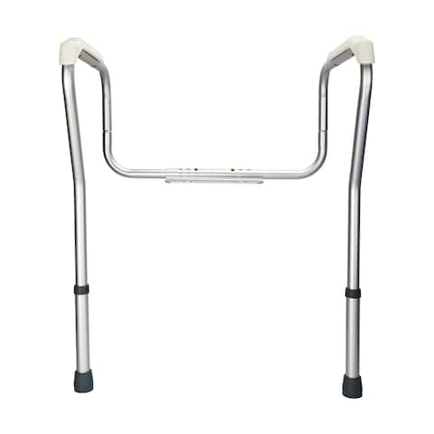 "31.9""Stand Alone Toilet Safety Grab Rail Silver"