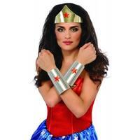 Wonder Woman Tiara and Bracelets Adult Costume Accessory Kit