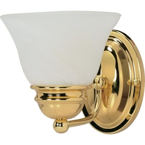 """Nuvo Lighting 60/348 Empire Single Light 6.3"""" Wide Bathroom Sconce with Alabaster Glass Shade"""
