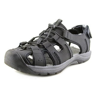 Khombu JM-1381 Men Round Toe Leather Fisherman Sandal