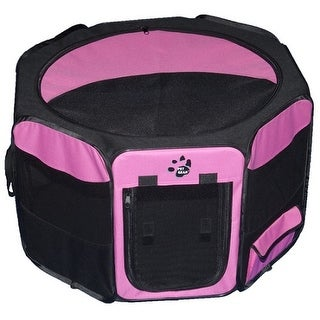 Travel Lite Soft-Sided Pet Pen - Small/Pink