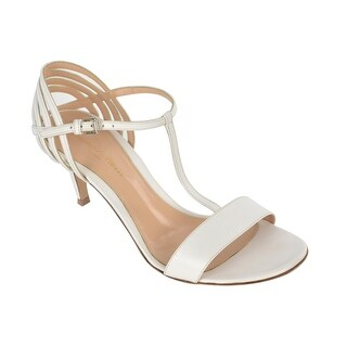 Gianvito Rossi Womens White Leather T Strap Sandal Heels