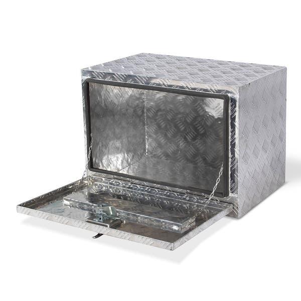 Shop Arksen 24 Aluminum Underbody Tool Box Storage W Lock Standard Overstock 26893602