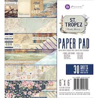 "Prima Marketing Double-Sided Paper Pad 6""X6"" 30/Pkg-St. Tropez"