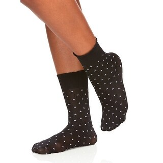 Berkshire Women's Scalloped Top Dot Opaque Anklet Socks