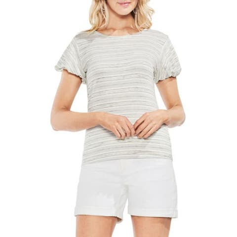 VINCE CAMUTO Ivory Short Sleeve Top XL