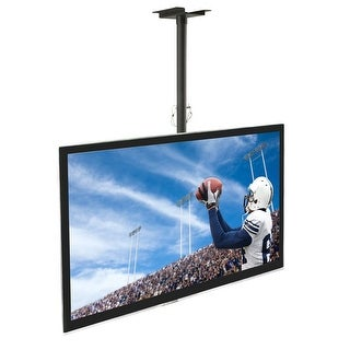 Mount-It! TV Ceiling Mount Bracket, Adjustable Height for Flat Panel LCD LED OLED Plasma TVs, Fits up to 60 Inch TVs