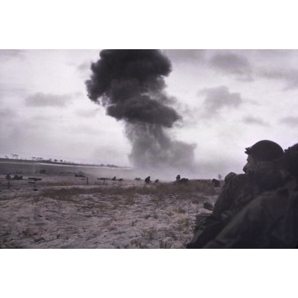 A German 88Mm Shell Hits Utah Beach Where US Troops Were Advancing Into  Normandy On June 11 History