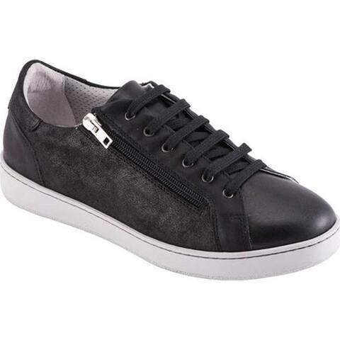 David Tate Women's Elisa Sneaker Black Calfskin