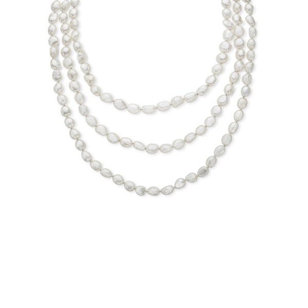 Honora Baroque 80-Inch 8-9mm Freshwater Pearl Rope Necklace
