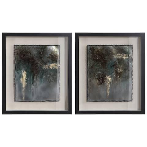 Uttermost Rustic Patina Framed Prints (Set of 2)