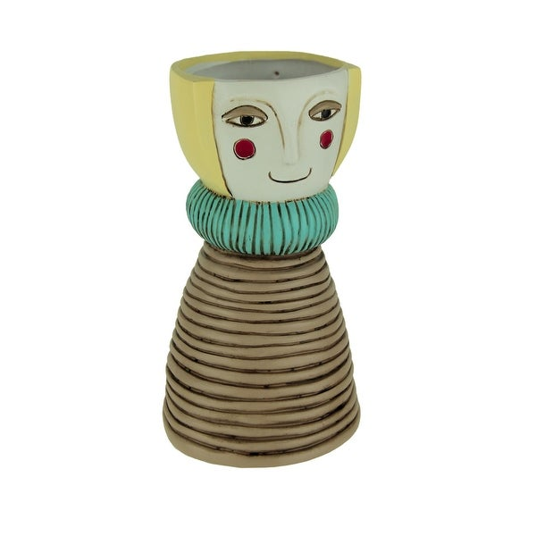 Allen Designs Lady Blonde Decorative Planter Vase - 7.75 X 4.5 X 4.5 inches