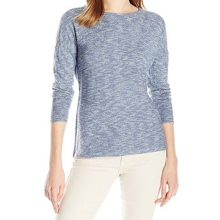Nic + Zoe NEW Blue Womens Size XL Pullover Space-Dye Knitted Sweater