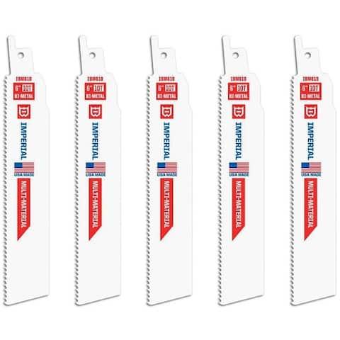 "Imperial Blades IBM610-5 Extreme Metal Reciprocating Saw Blades, 6"""