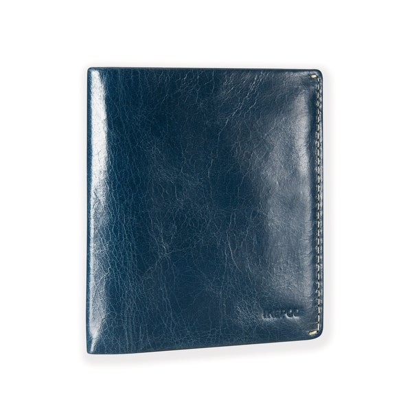 Ikepod Slim Carry Wallet (Blue of 7 Colour) [Italy Made // Top Leather] [RFID Blocking and Slim Stitching!]