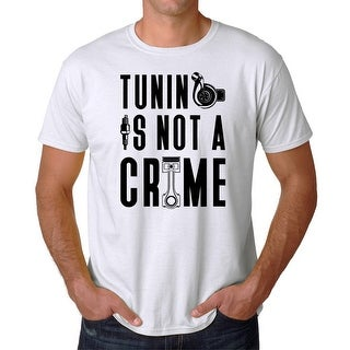 Tee Bangers Tuning Is Not A Crime Men's White T-shirt