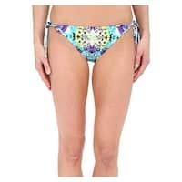 Nanette Lepore Blue Womens Size Small S Side-Tie Swim Bikini Bottom