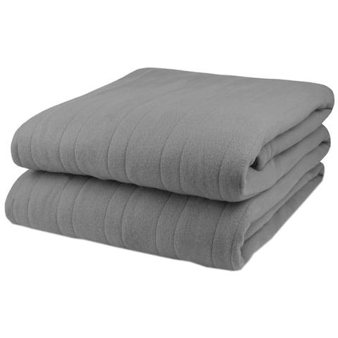 Biddeford Comfort Knit Fleece Electric Heated Warming Throw Blanket Wa